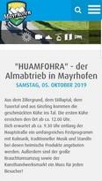 Flyer zum Festival-Wochenende.